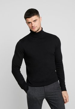 Jack & Jones - JJEEMIL ROLL NECK - Trui - black