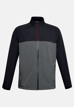Under Armour - STORMPROOF GOLF RAIN JACKET - Regenjacke / wasserabweisende Jacke - black