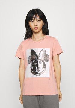 ONLY Petite - ONLMINNIE SPLIT FACE  - Camiseta estampada - rose tan