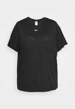 Reebok - BURNOUT TEE IN - T-shirt basic - black