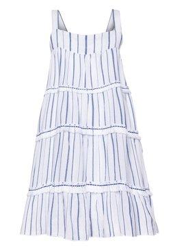 Sunuva - STRIPE FRINGED TIER DRESS - Freizeitkleid - blue