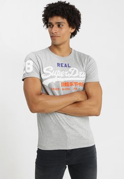 Superdry - VINTAGE LOGO TRI TEE - T-shirt imprimé - montana grey grit