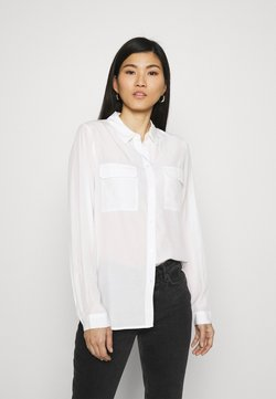 Anna Field - Basic Blouse with front pockets - Koszula - offwhite