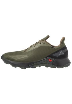 Salomon - ALPHACROSS BLAST GTX - Löparskor terräng - olive night/black/ebony