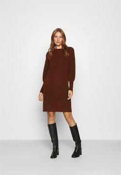 Selected Femme - SLFSIF KAYA DRESS O NECK - Vestido de punto - smoked