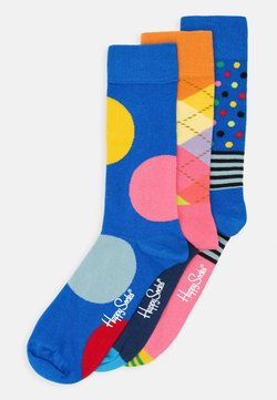 Happy Socks - ARGYLE STRIPES AND JUMBO DOT 3 PACK - Socken - multi