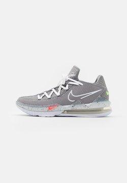 Nike Performance - LEBRON XVII LOW - Indoorskor - particle grey/white/light smoke grey/black/multicolor