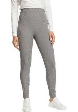 Esprit Collection - BI-STRETCH MIT MINI-KARO - Leggings - Hosen - dark grey
