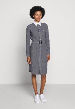 Polo Ralph Lauren - HEIDI LONG SLEEVE CASUAL DRESS - Sukienka koszulowa - black/white
