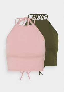 Even&Odd Petite - 2 PACK - Top - light pink/olive
