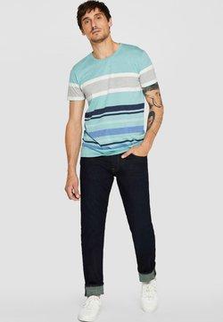 Esprit - MIT RINSE-WASCHUNG - Straight leg jeans - blue rinse