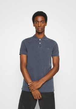 Marc O'Polo - SHORT SLEEVE RIB DETAILS - Poloshirt - total eclipse
