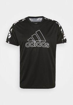 adidas Performance - CELEB TEE  - T-shirt imprimé - black/white