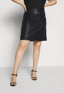 Noisy May Curve - NMNEW REBEL SHORT SKIRT CURVE - Lederrock - black