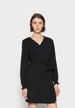 Kaffe - WIOLA WRAP DRESS - Korte jurk - black deep