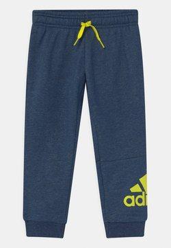 adidas Performance - UNISEX - Verryttelyhousut - dark blue/neon yellow