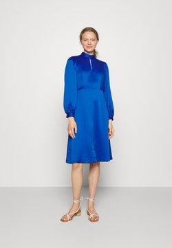 Closet - HIGH COLLAR A-LINE DRESS - Cocktailkleid/festliches Kleid - cobalt