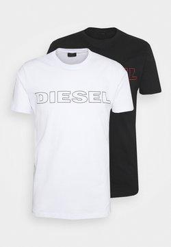 Diesel - 2 PACK - Print T-shirt - black/white