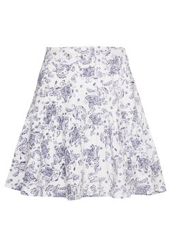 Nly by Nelly - TWO TO TANGO SKIRT - A-line skirt - white/blue