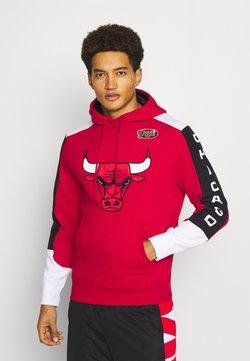 Mitchell & Ness - NBA CHICAGO BULLS FUSION HOODY - Pelipaita - red scarlet