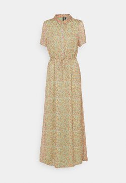 Vero Moda Tall - VMKAY ANKLE SHIRT DRESS - Maxikleid - laurel green/petal