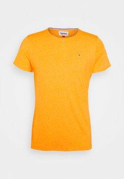 Tommy Jeans - SLIM JASPE C NECK - T-shirt basic - yellow