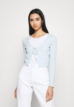Cotton On - VIVVY TIE FRONT - Cardigan - daisy blue