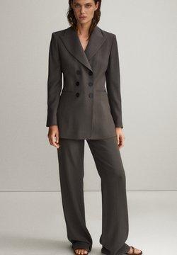 Massimo Dutti - Spodnie materiałowe - grey
