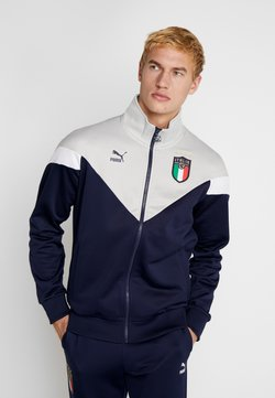 Puma - ITALIEN FIGC ICONIC MCS  - Trainingsjacke - peacoat/grey