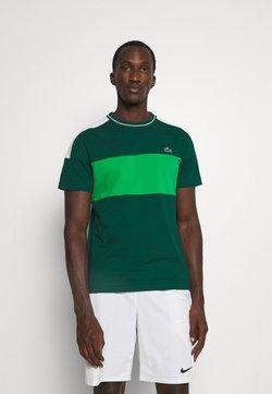 Lacoste Sport - TOUR - T-Shirt print - vert/blanc