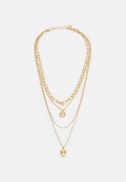 Pieces - PCNAOMI COMBI NECKLACE - Necklace - gold-coloured