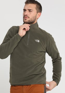The North Face - GLACIER 1/4 ZIP - Fleecepullover - new taupe green