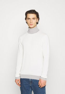 Brave Soul - COBY - Strickpullover - vintage white/ light grey