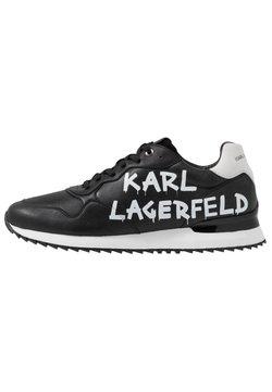 KARL LAGERFELD - VELOCITOR II METEOR BRUSH LOGO - Sneaker low - black/white