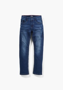 s.Oliver - REGULAR FIT SWEAT-JEANS - Slim fit jeans - dark blue
