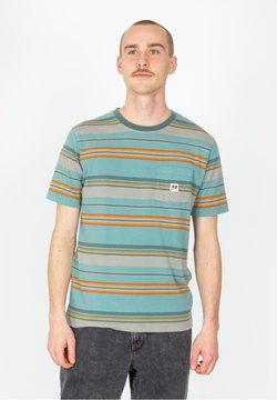Brixton - HILT ALTON POCKET - T-Shirt print - aqua cloud wash