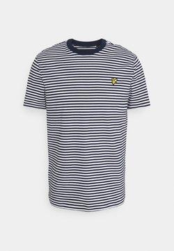 Lyle & Scott - COLOUR STRIPE - T-Shirt print - navy