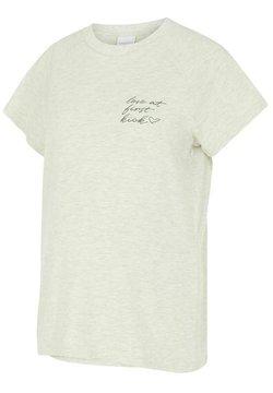 MAMALICIOUS - 2 IN 1 MLKIKY - T-shirt med print - oatmeal
