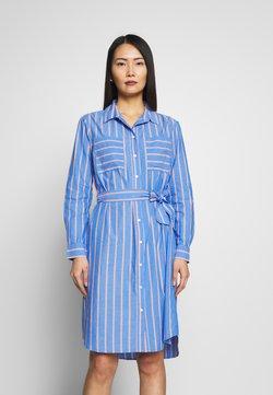 mine to five TOM TAILOR - DRESS WITH BELT - Blusenkleid - blue/white/orange