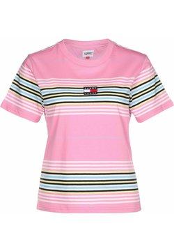 Tommy Jeans - T-Shirt basic - pink daisy / stripe