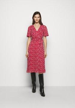 Lauren Ralph Lauren - PRINTED GEORGETTE DRESS - Freizeitkleid - lipstick red