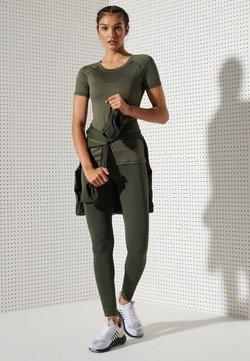 Superdry - TRAINING ESSENTIAL - T-Shirt basic - army khaki