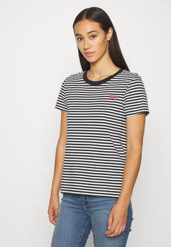 Levi's® - PERFECT TEE - T-Shirt print - black/white