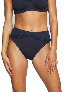 MICHAEL Michael Kors - ICONIC SOLIDS RUFFLED HIGH LEG BOTTOM - Bikinialaosa - new navy