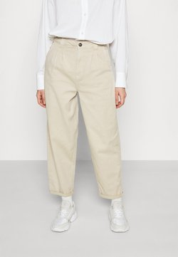 Noisy May - NMLOU FOLD UP ANK PANTS - Relaxed fit jeans - chateau gray
