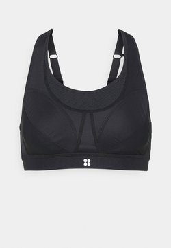 Sweaty Betty - ULTRA RUNNING BRA - Sujetadores deportivos con sujeción media - black