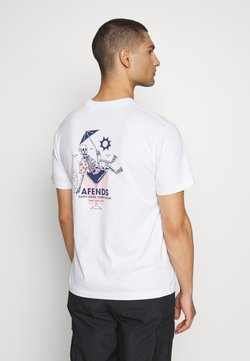 Afends - UNISEX HAPPY HOUR RETRO FIT TEE - T-Shirt print - white