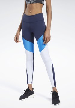 Reebok - LUX COLORBLOCK 2 LEGGINGS - Tights - blue