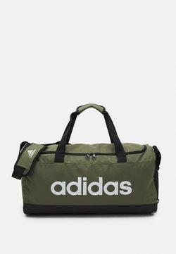 adidas Performance - LINEAR DUFFEL UNISEX - Sporttasche - focus olive/black/white