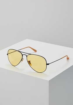 Ray-Ban - 0RB3025 AVIATOR - Sunglasses - black/photo yellow